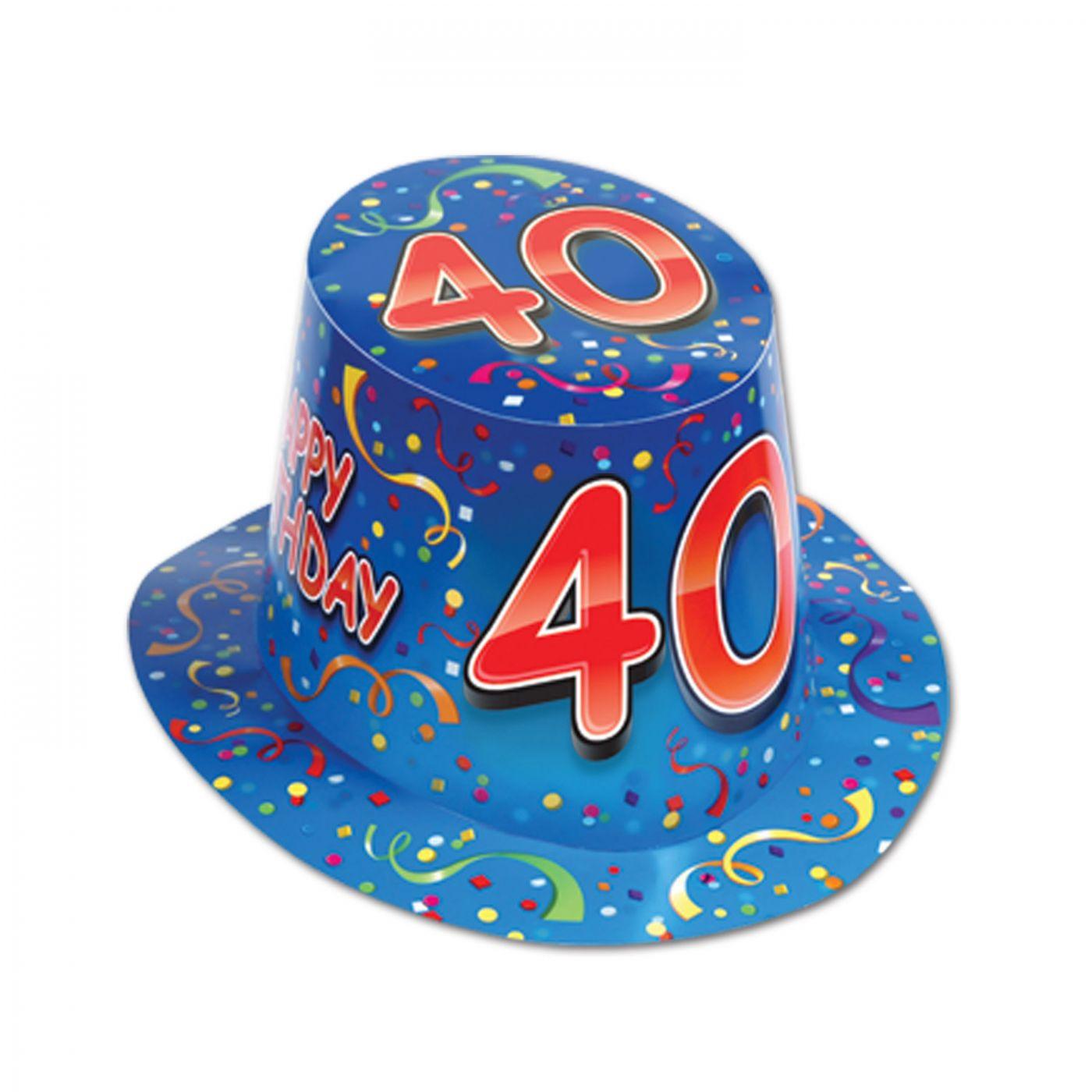 Happy  40  Birthday Hi-Hat (25) image
