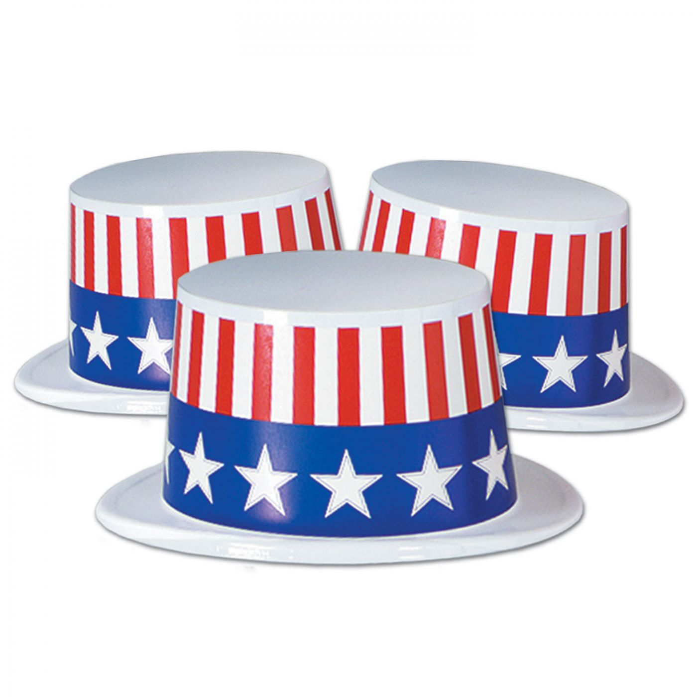 Plastic Topper w/Patriotic Band (25) image