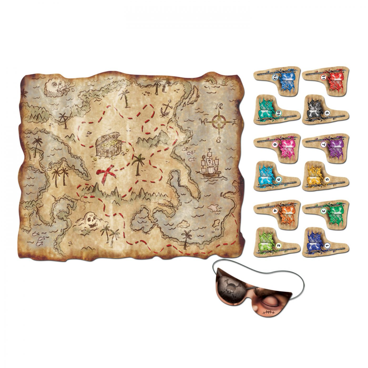 Pirate Treasure Map Party Game (24) image