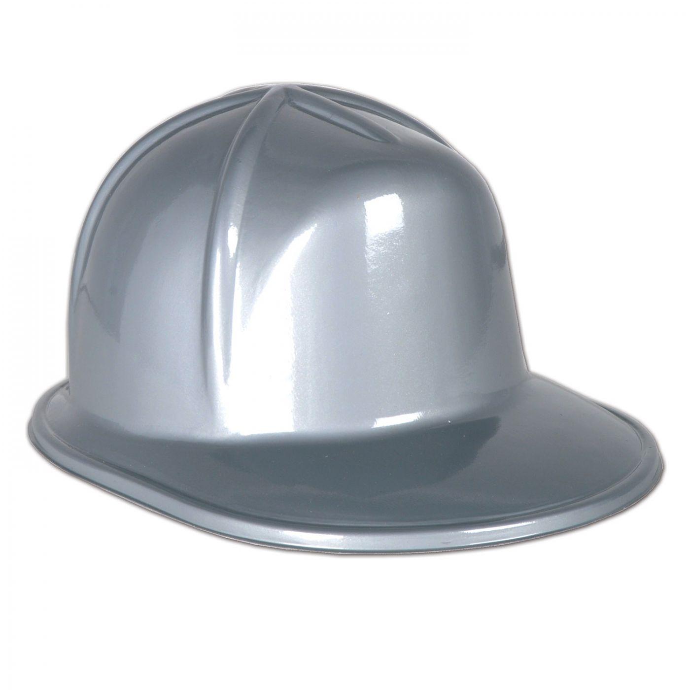Silver Plastic Construction Helmet (48) image