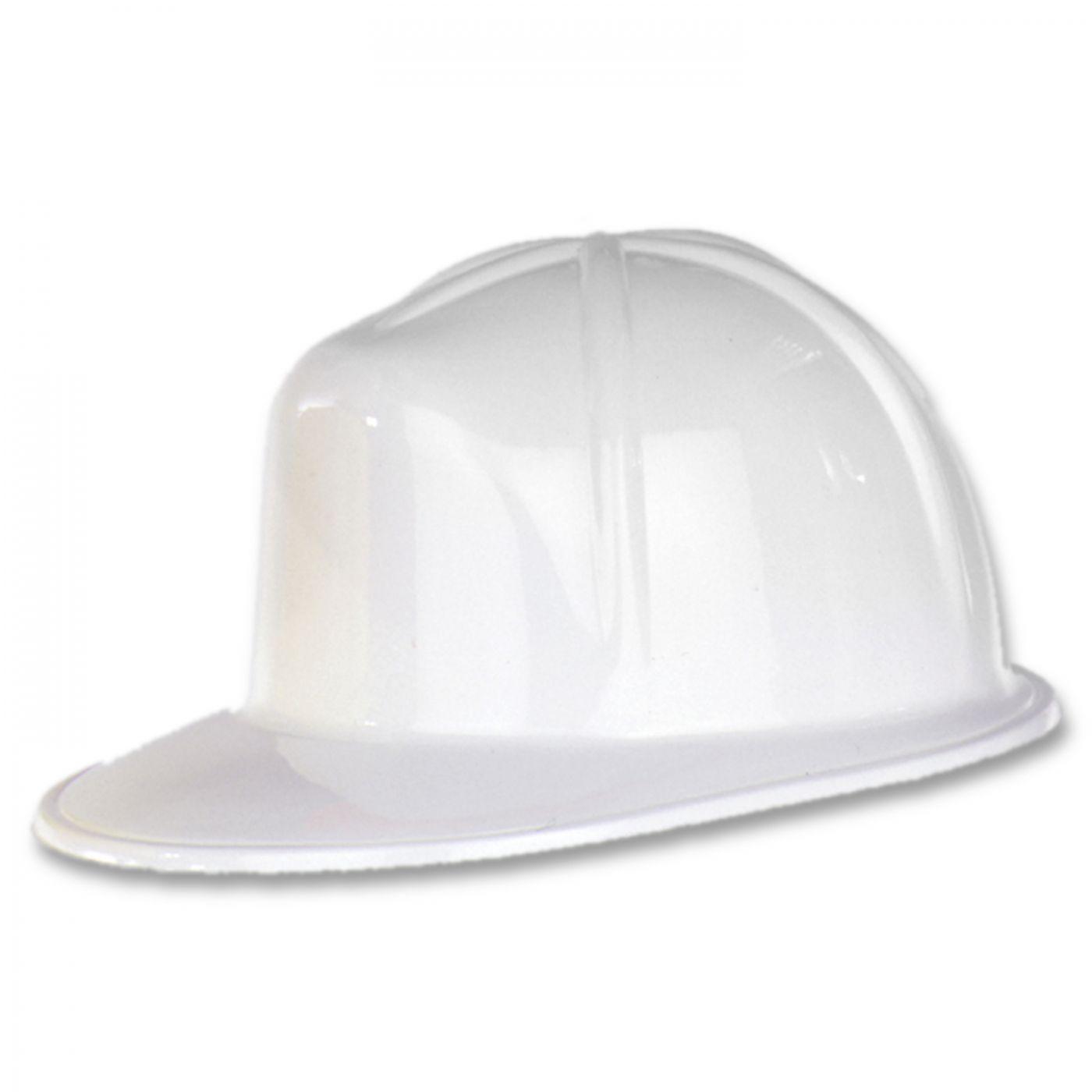 White Plastic Construction Helmet (48) image