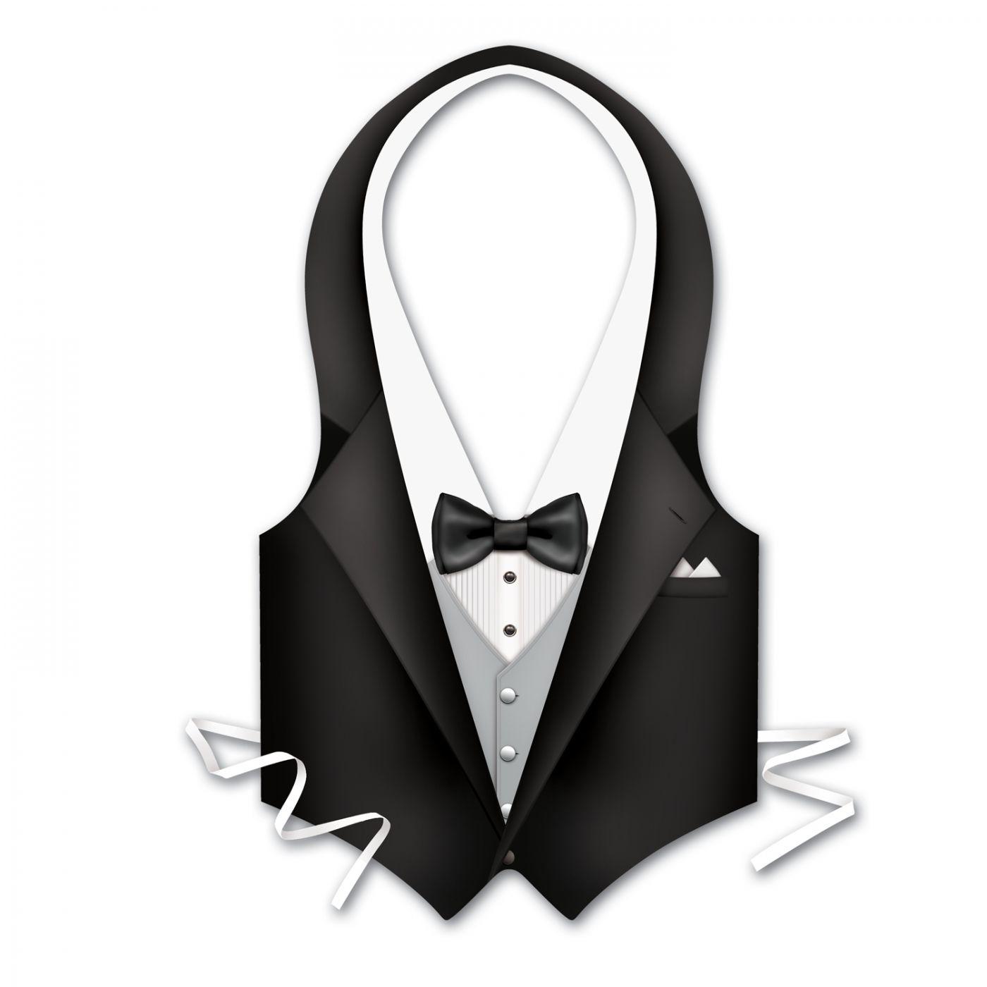Pkgd Plastic Tux Vest (24) image