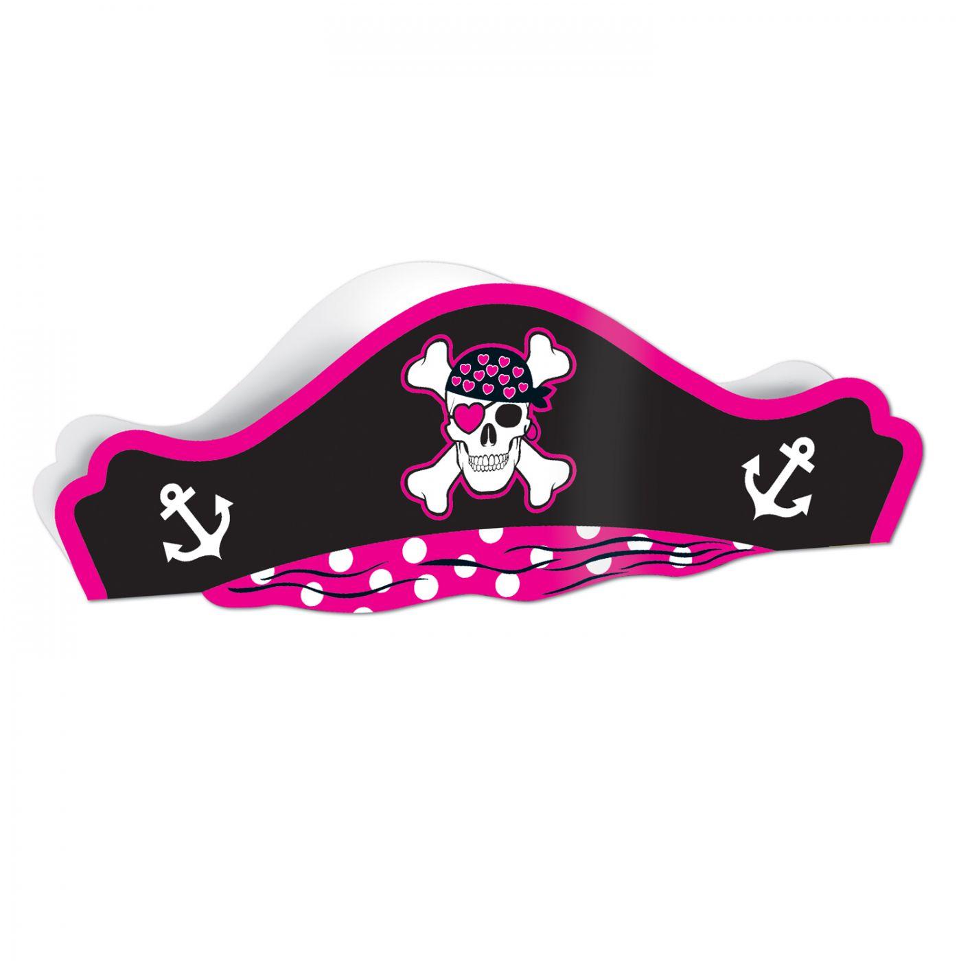 Pink Printed Pirate Hat (48) image