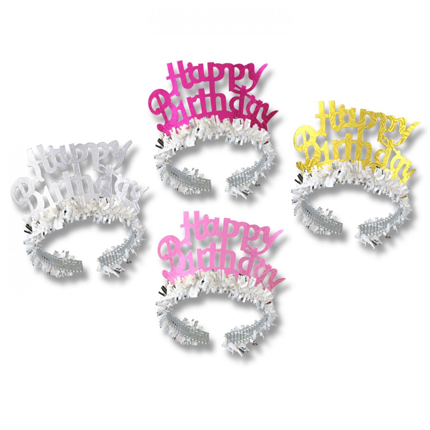 Happy Birthday Tiaras w/Fringe (72) image