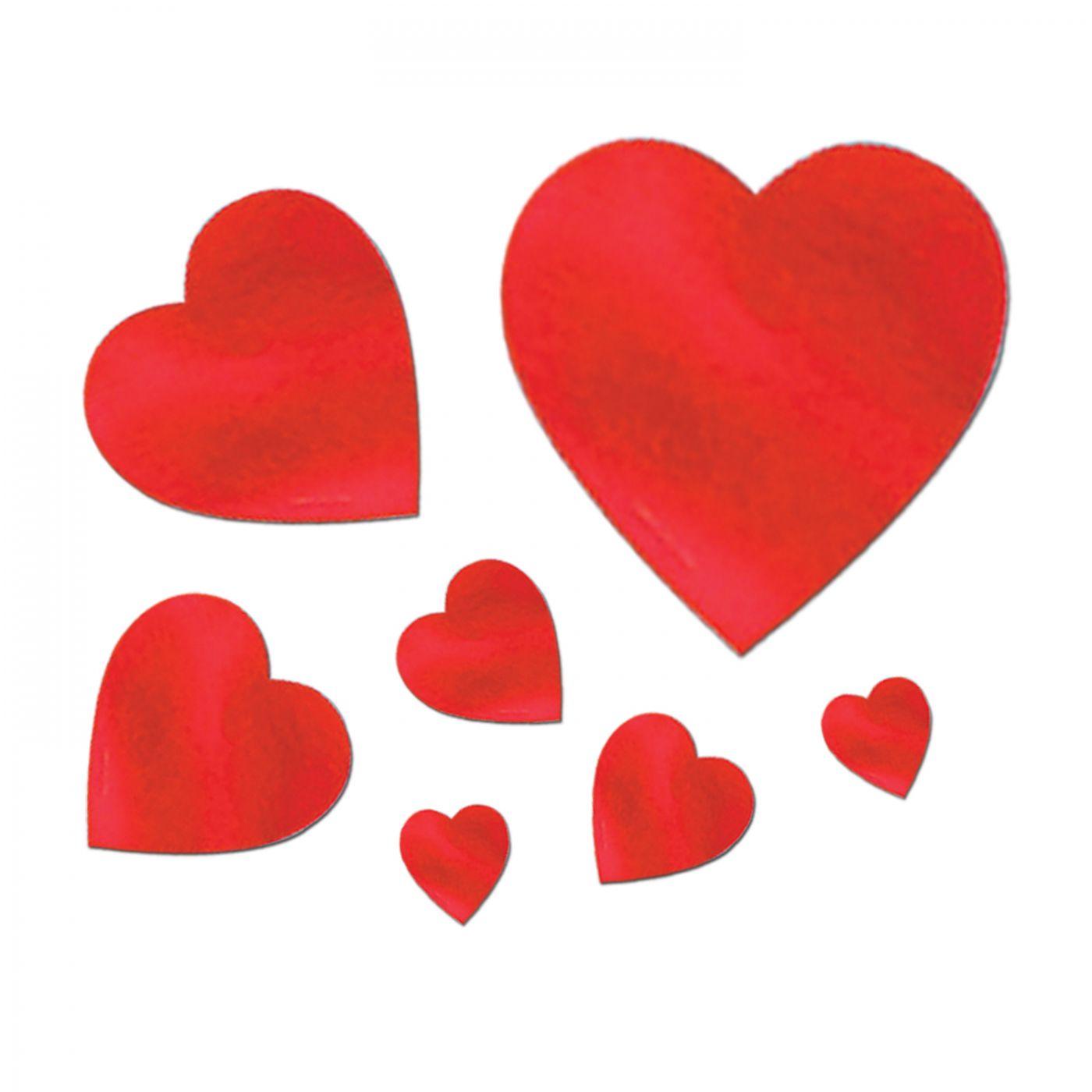 Pkgd Foil Heart Cutouts (24) image