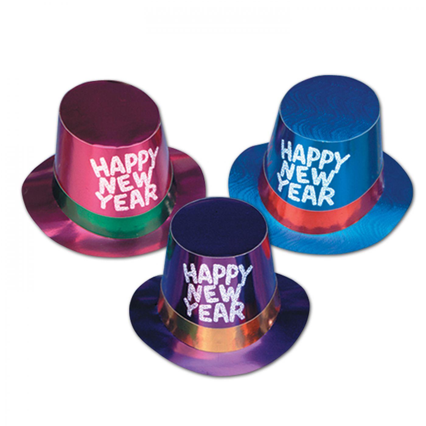 Foil Hi-Hats w/Glittered HNY (25) image
