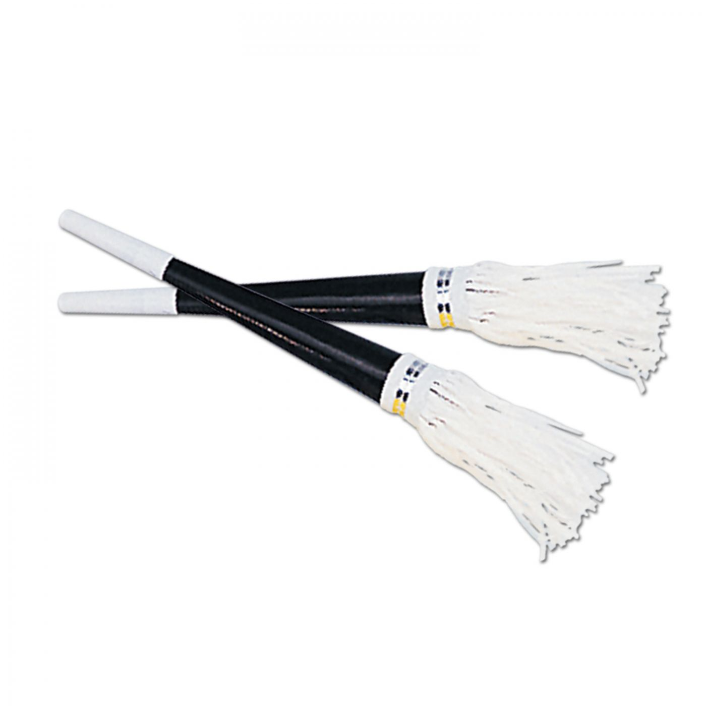 Black Foil Horns w/White Tassel (100) image