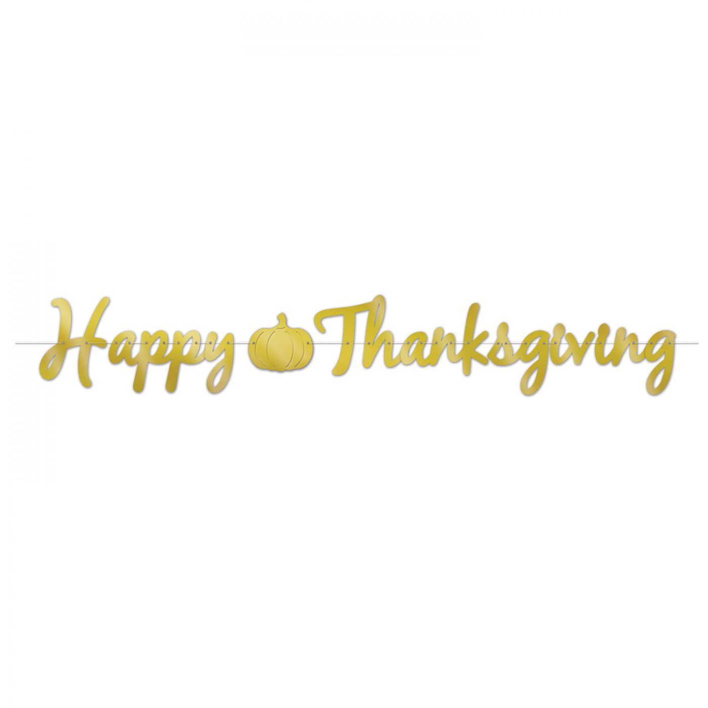 Foil Happy Thanksgiving Streamer image