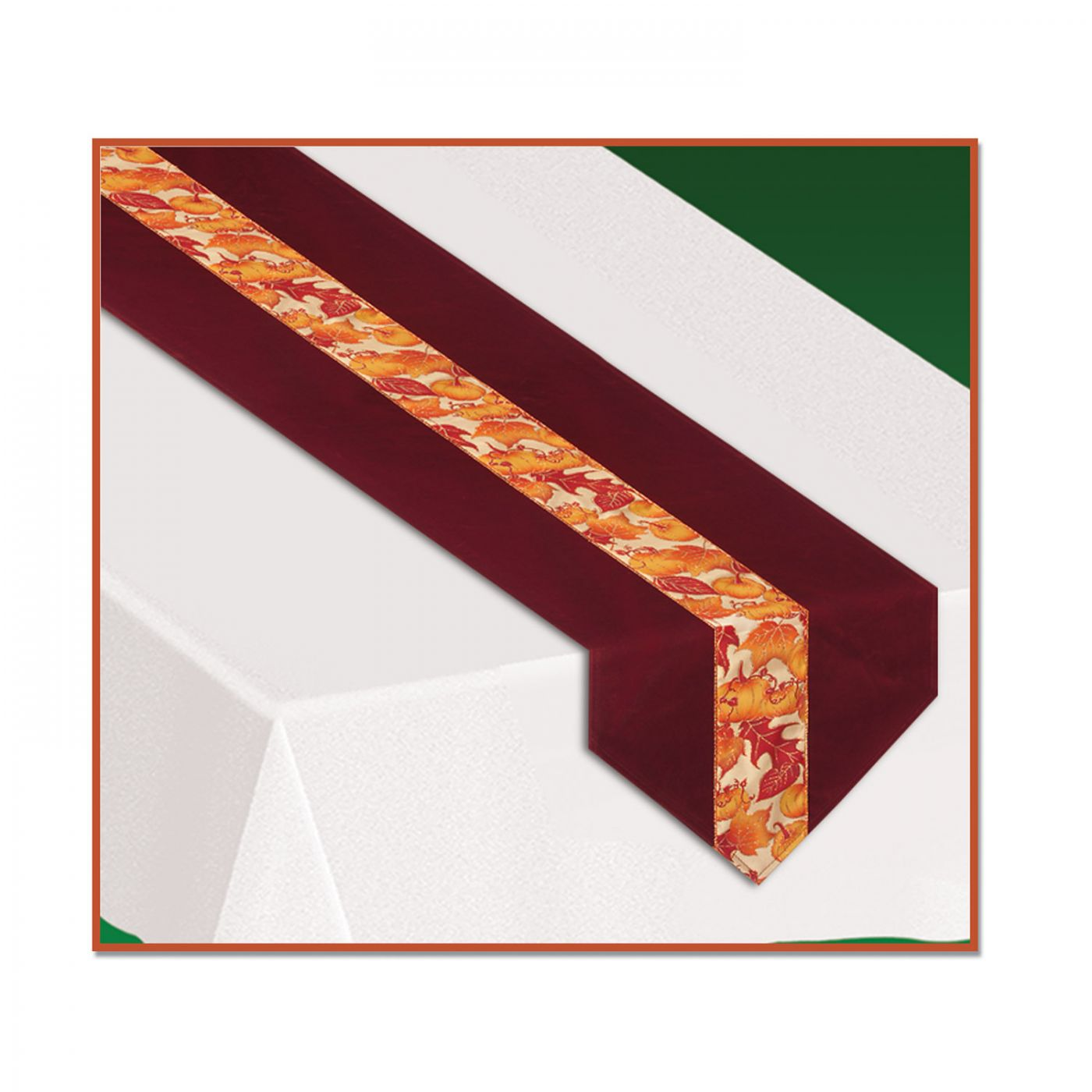 Image of Autumn Leaves Fabric Table Runner (6)