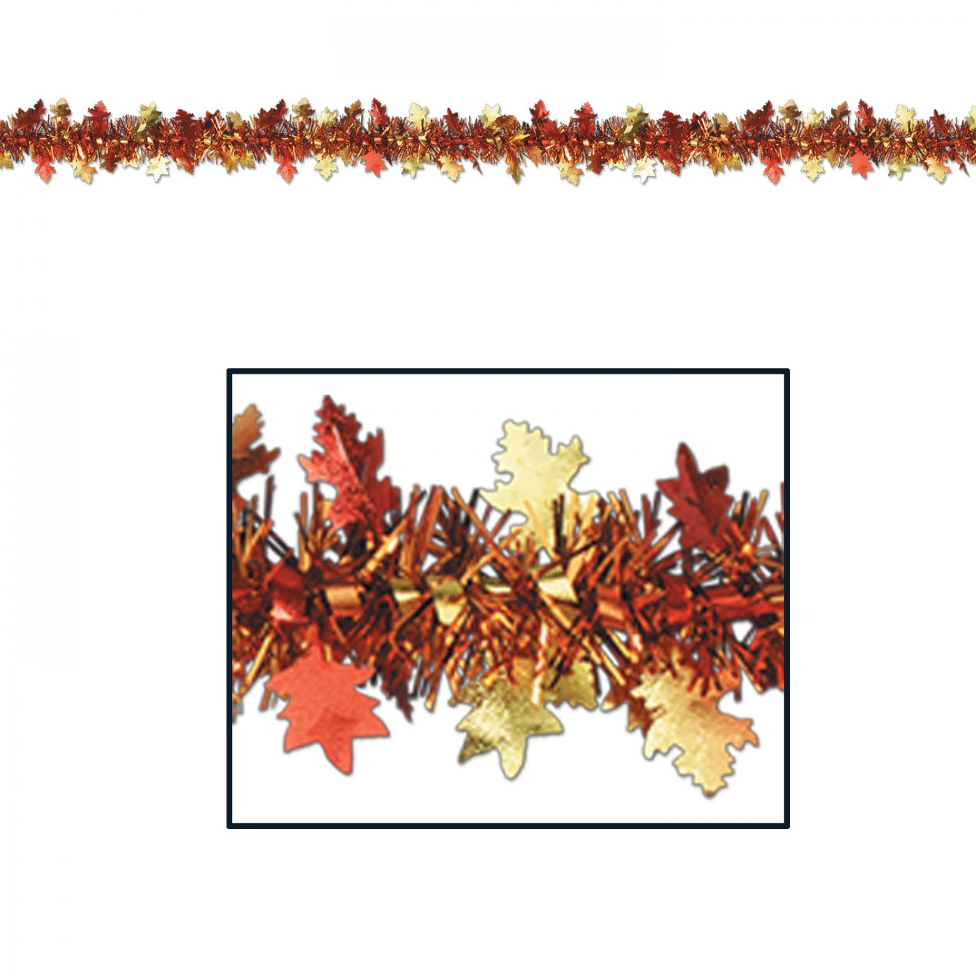 FR Metallic Autumn Leaf Garland image