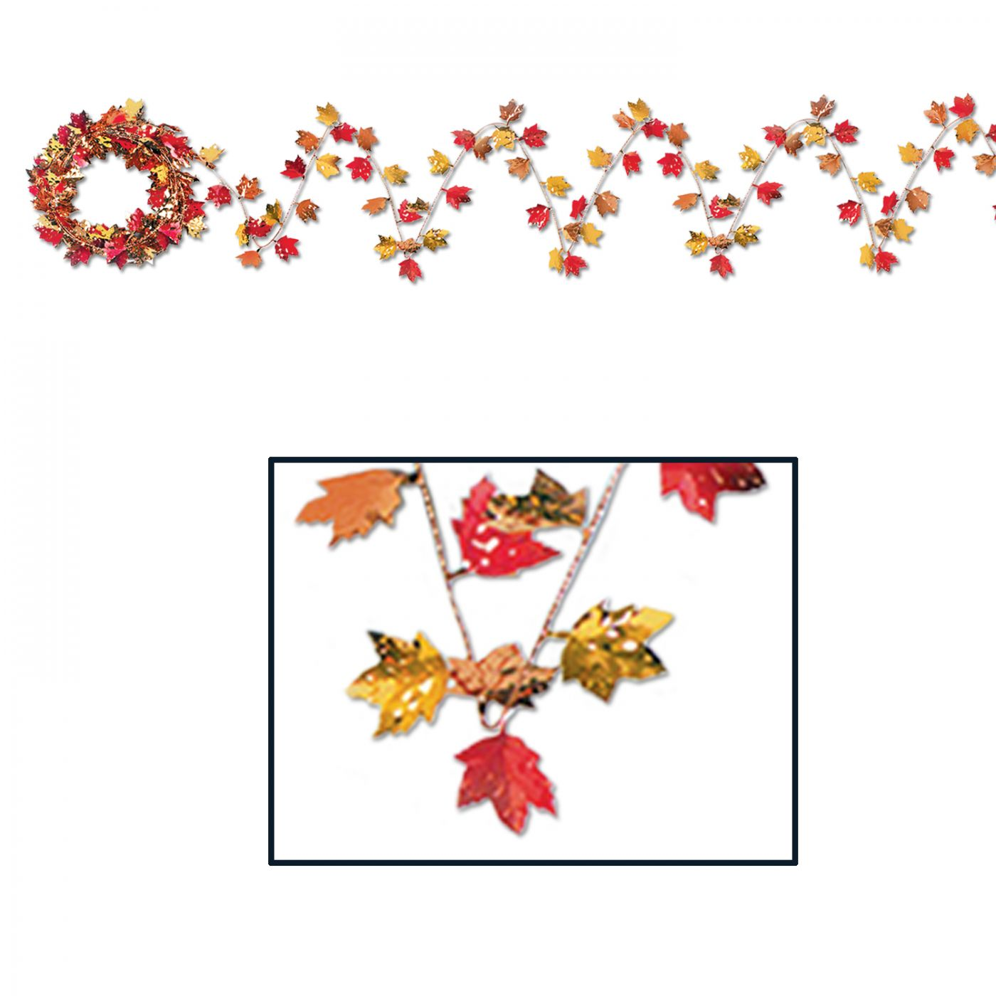 Gleam 'N Flex Autumn Leaf Garland image