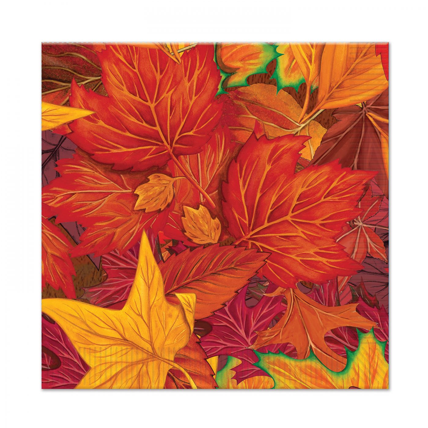 Fall Leaf Beverage Napkins image