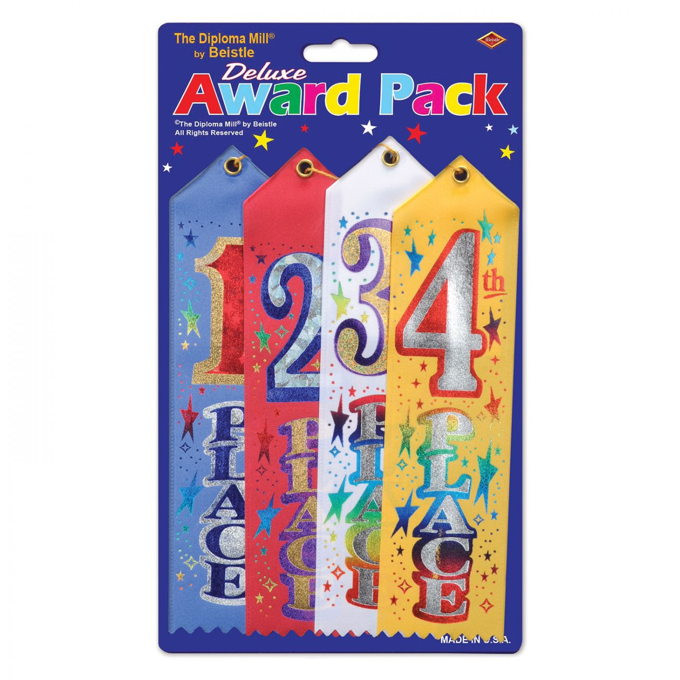 Image of 1st/2nd/3rd/4th Place Award Pack Ribbons (6)