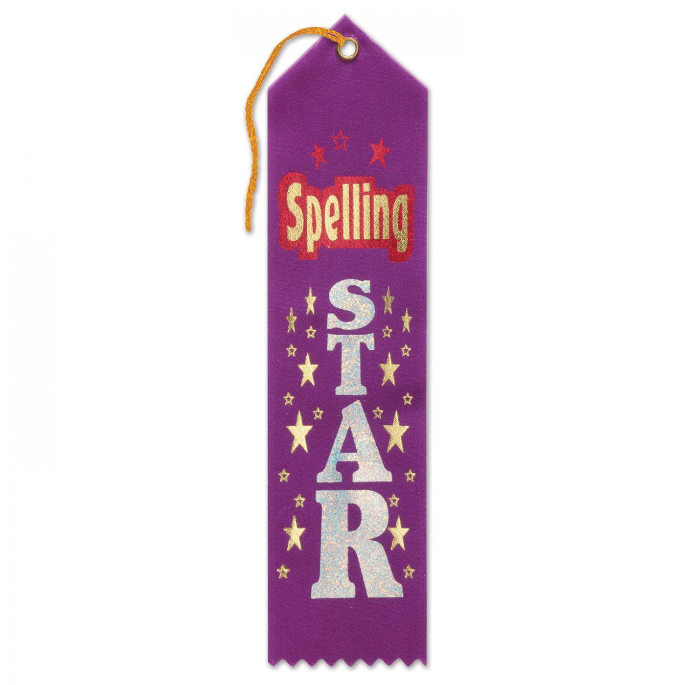 Spelling Star Award Ribbon (6) image