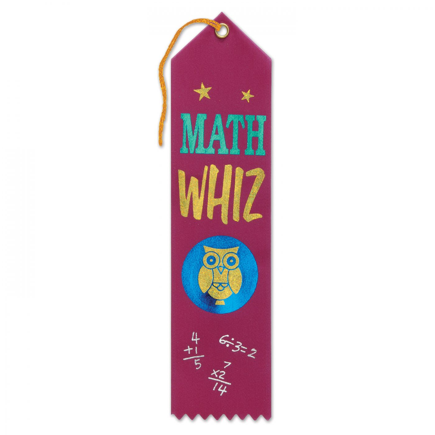 Math Whiz Award Ribbon (6) image