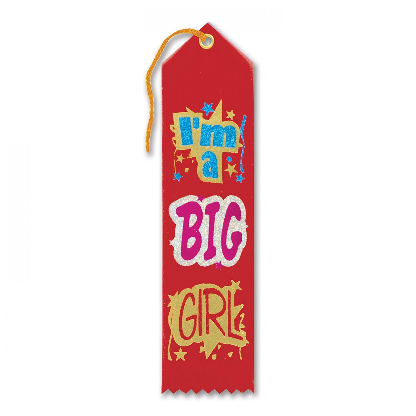 I'm A Big Girl Award Ribbon (6) image