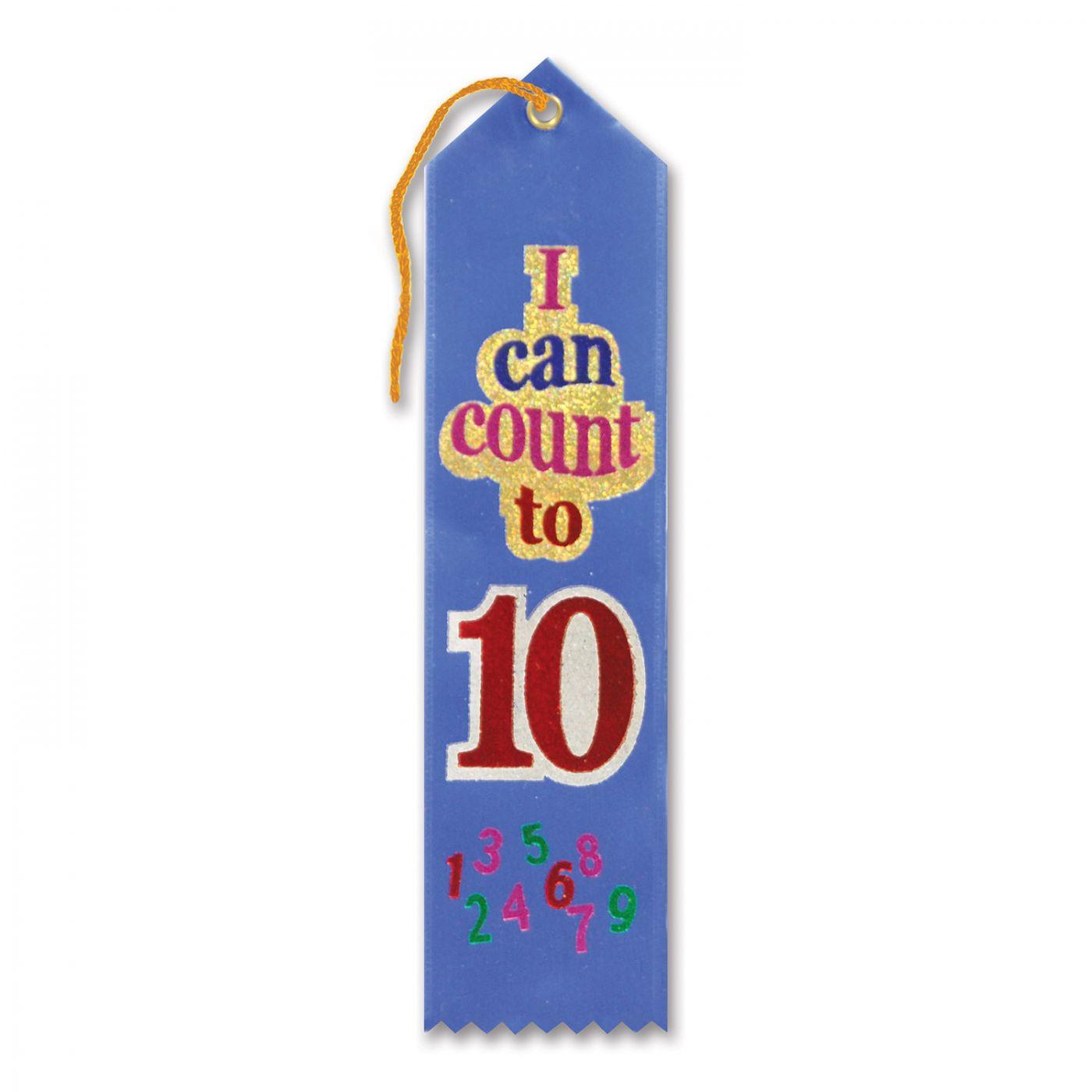 I Can Count To Ten Award Ribbon (6) image