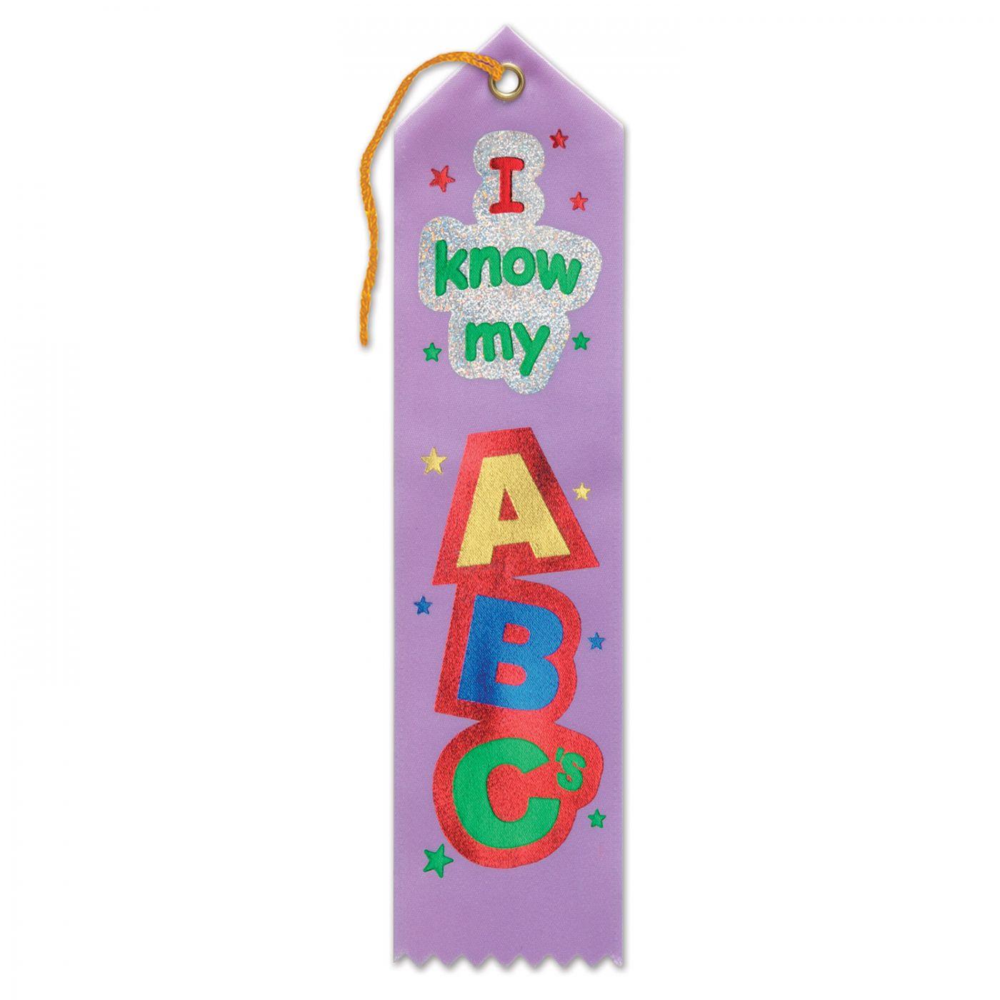 I Know My ABC's Award Ribbon (6) image