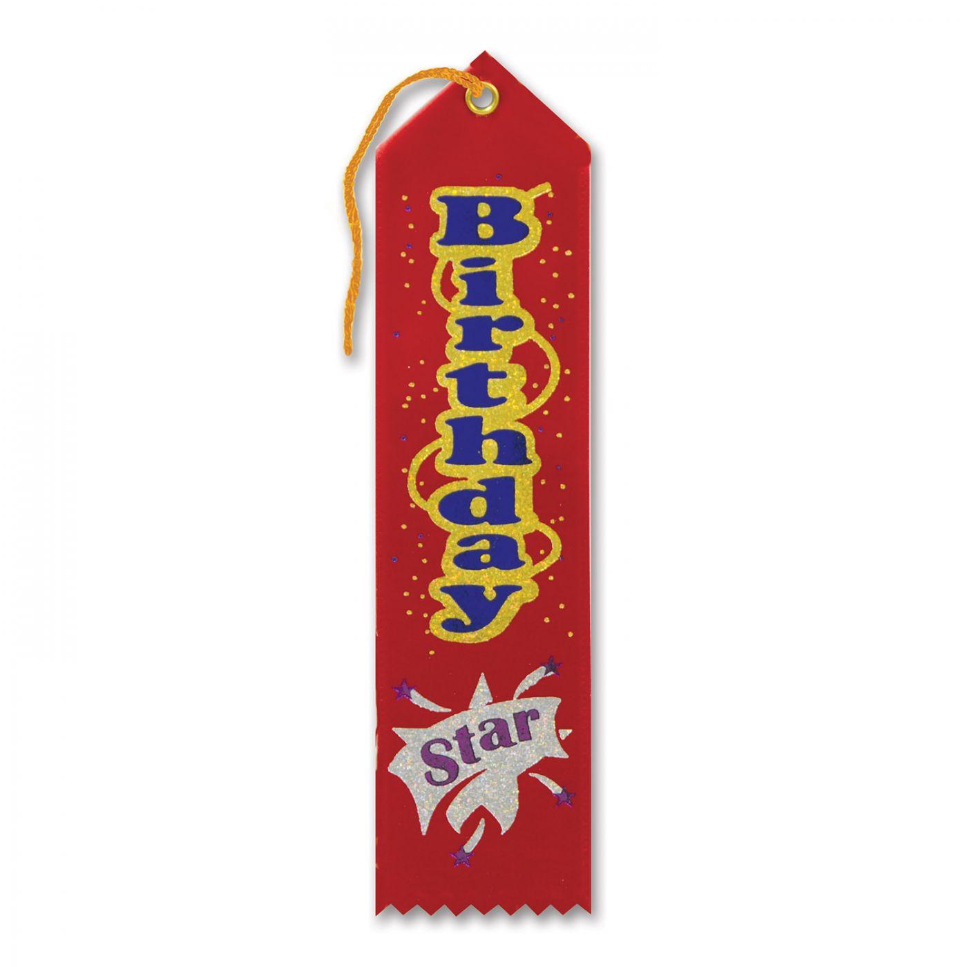 Birthday Star Award Ribbon (6) image