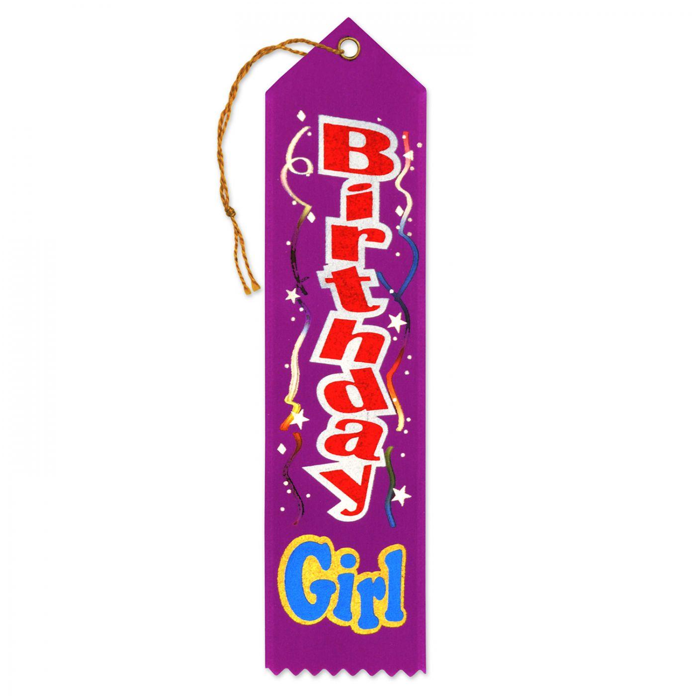Birthday Girl Award Ribbon (6) image