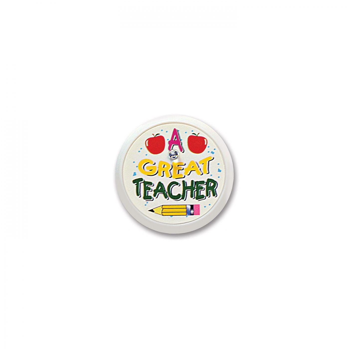 A Great Teacher Blinking Button (6) image
