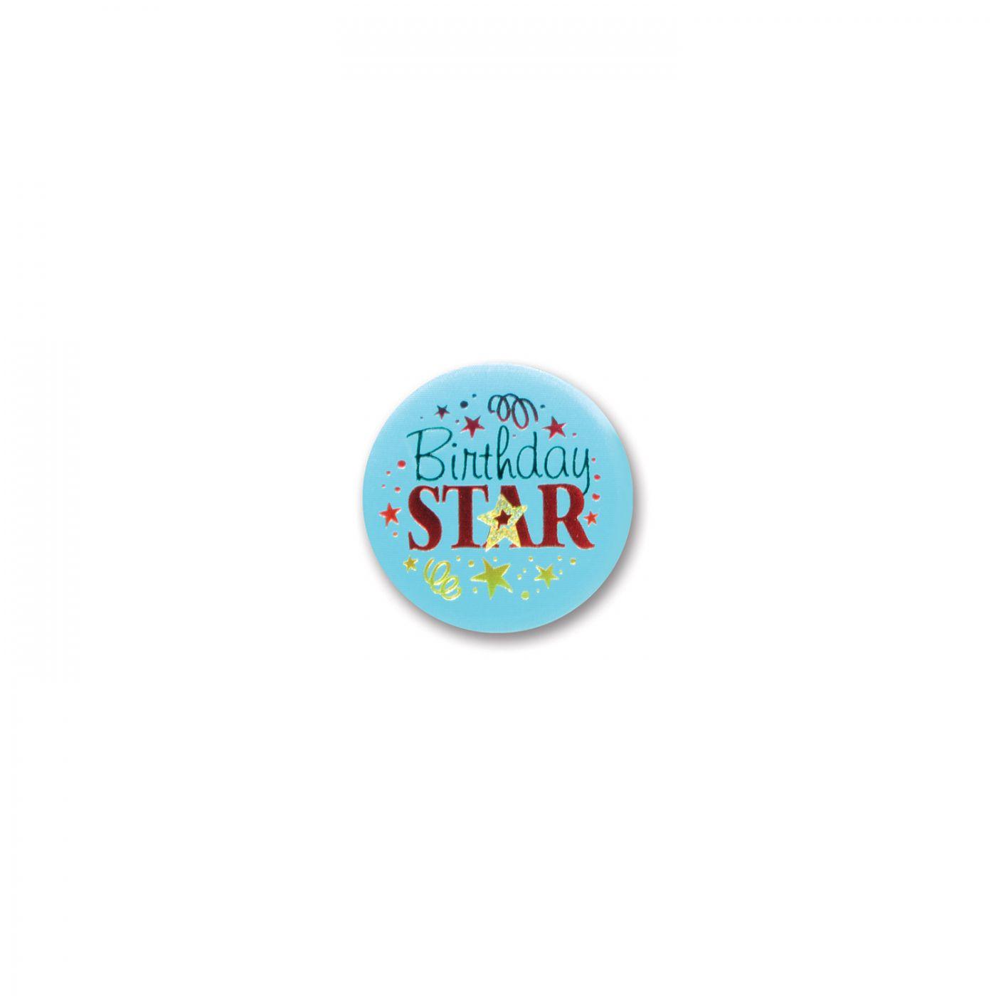 Image of Birthday Star Satin Button (6)