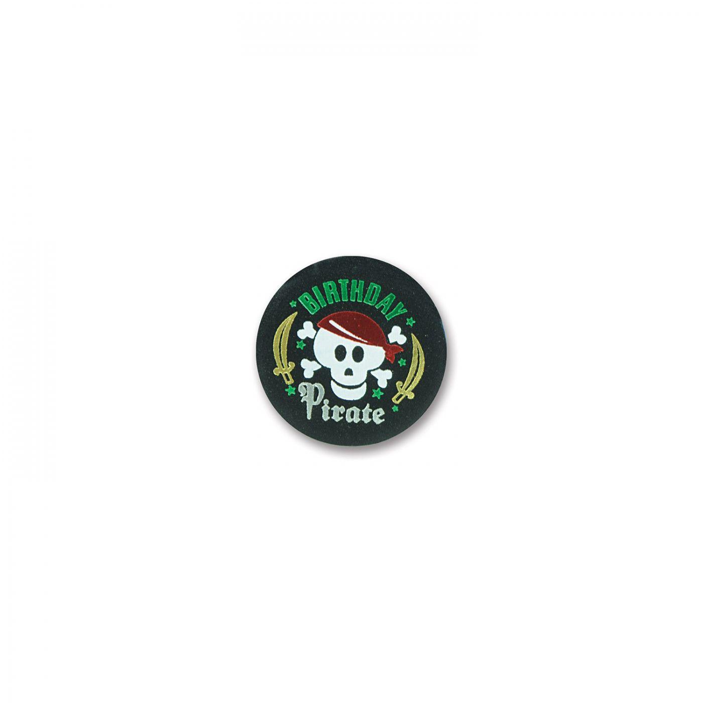Birthday Pirate Satin Button (6) image