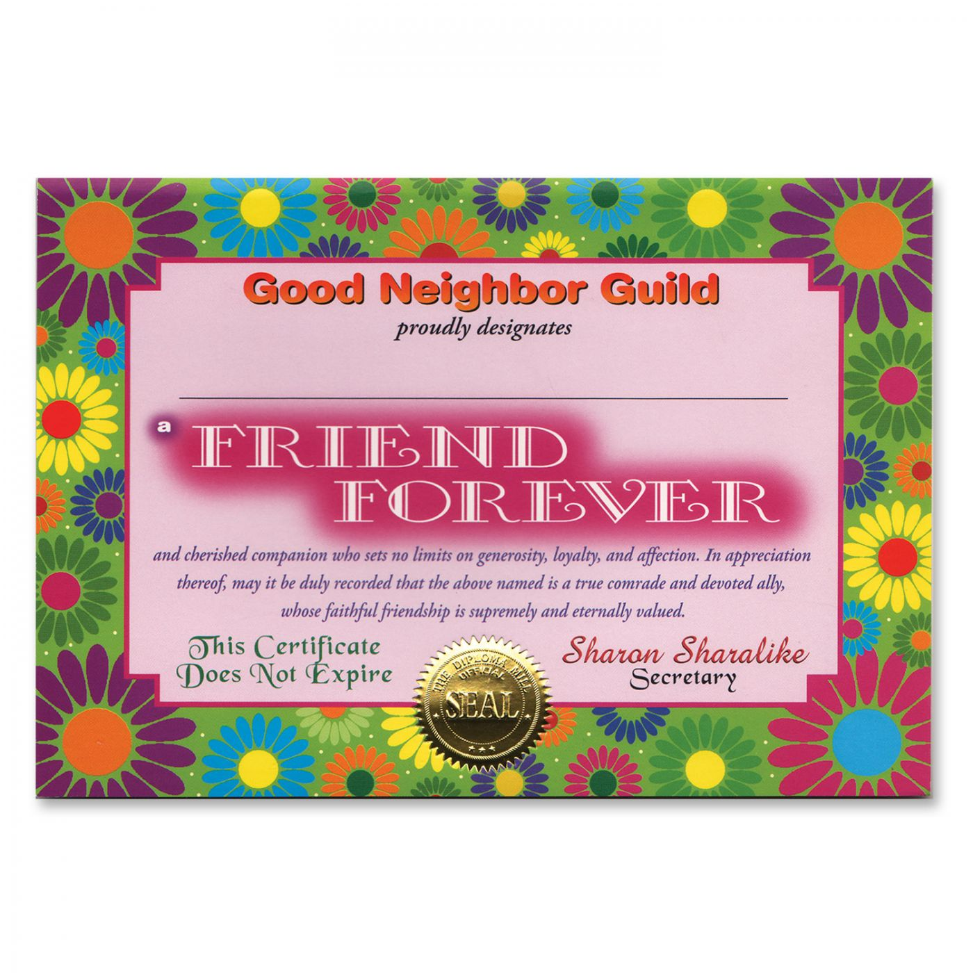 Friend Forever Certificate (6) image