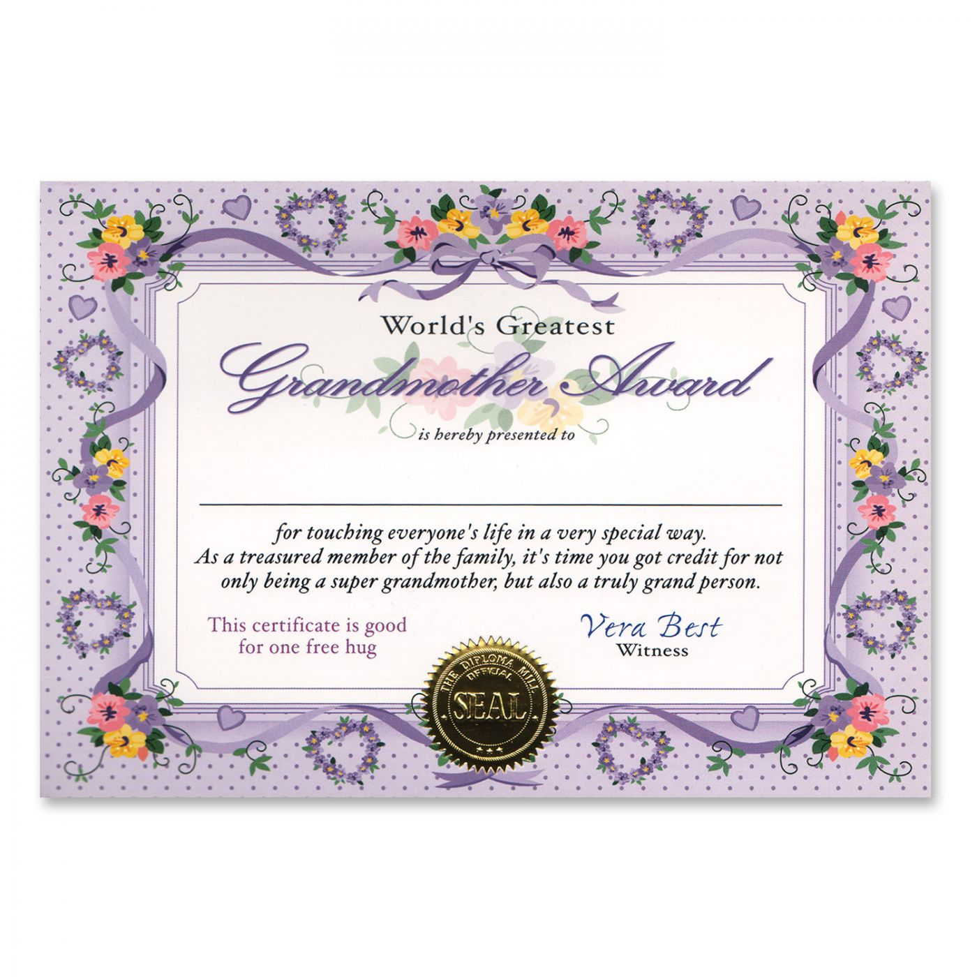 World's Greatest Grandmother Certificate (6) image