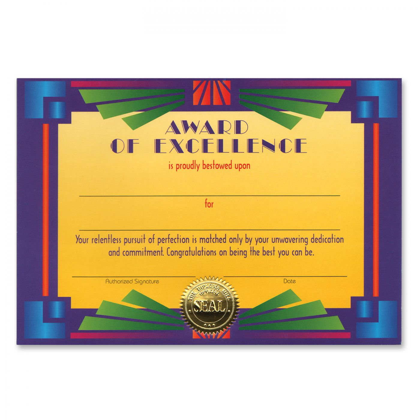 Image of Award Of Excellence Certificate (6)