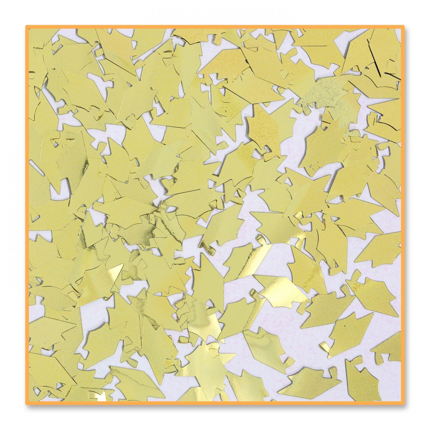 Gold Grad Caps Confetti (6) image