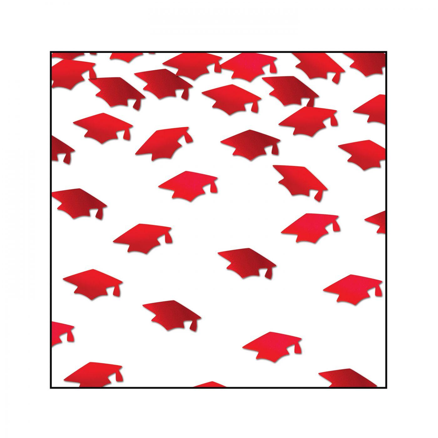 Red Grad Caps Confetti (6) image