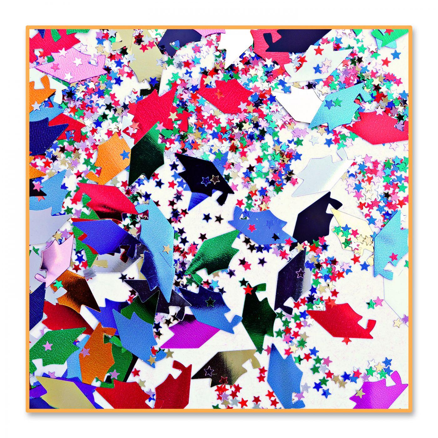 Grad Caps & Stars Confetti (6) image
