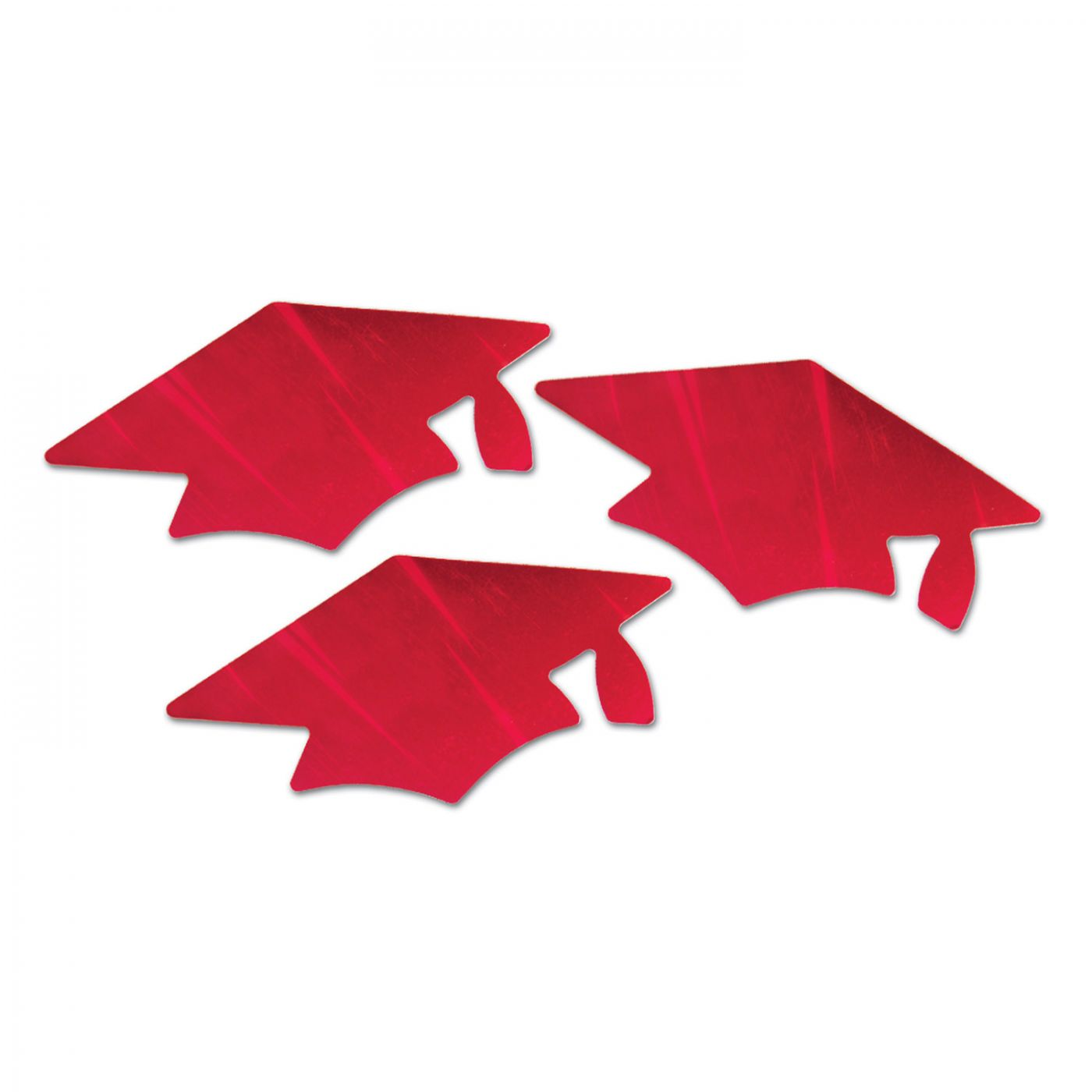 Red Metallic Grad Cap Cutouts (6) image