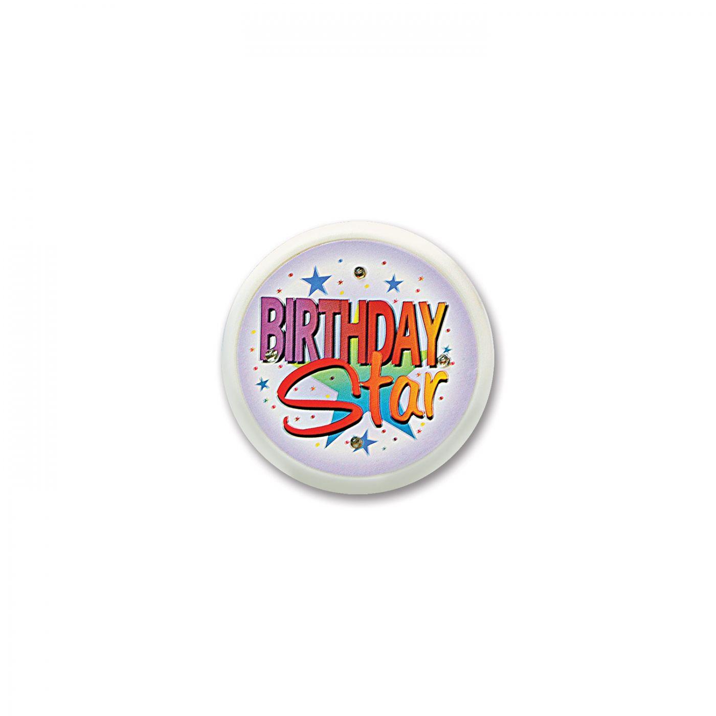 Birthday Star Flashing Button (6) image