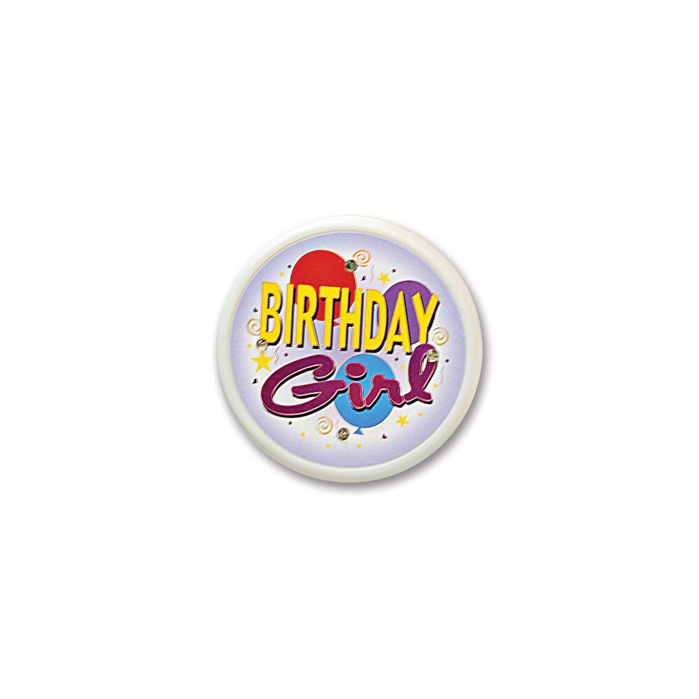 Birthday Girl Flashing Button (6) image