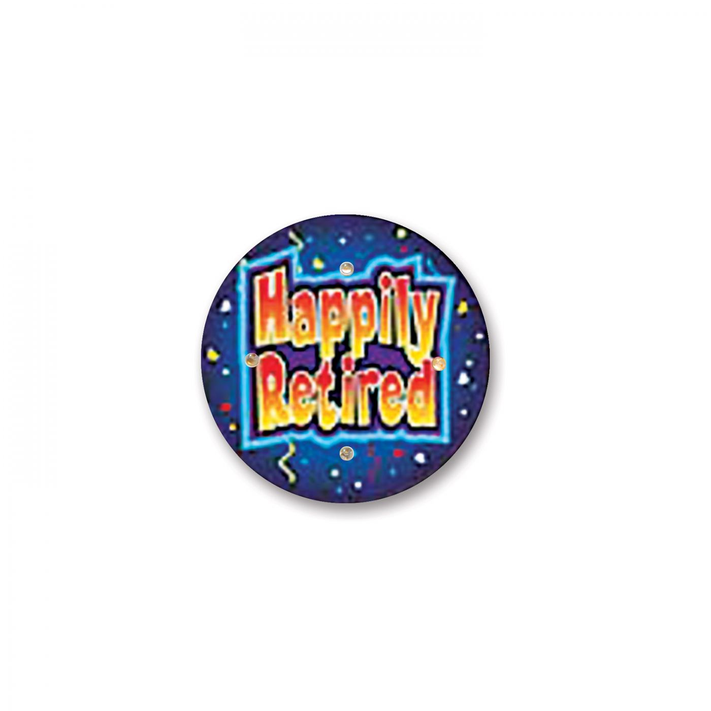 Happily Retired Flashing Button (6) image