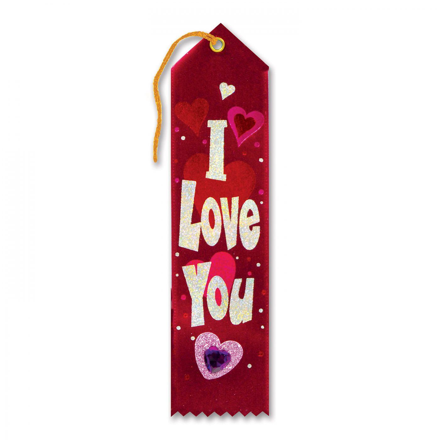 I Love You Jeweled Ribbon (6) image