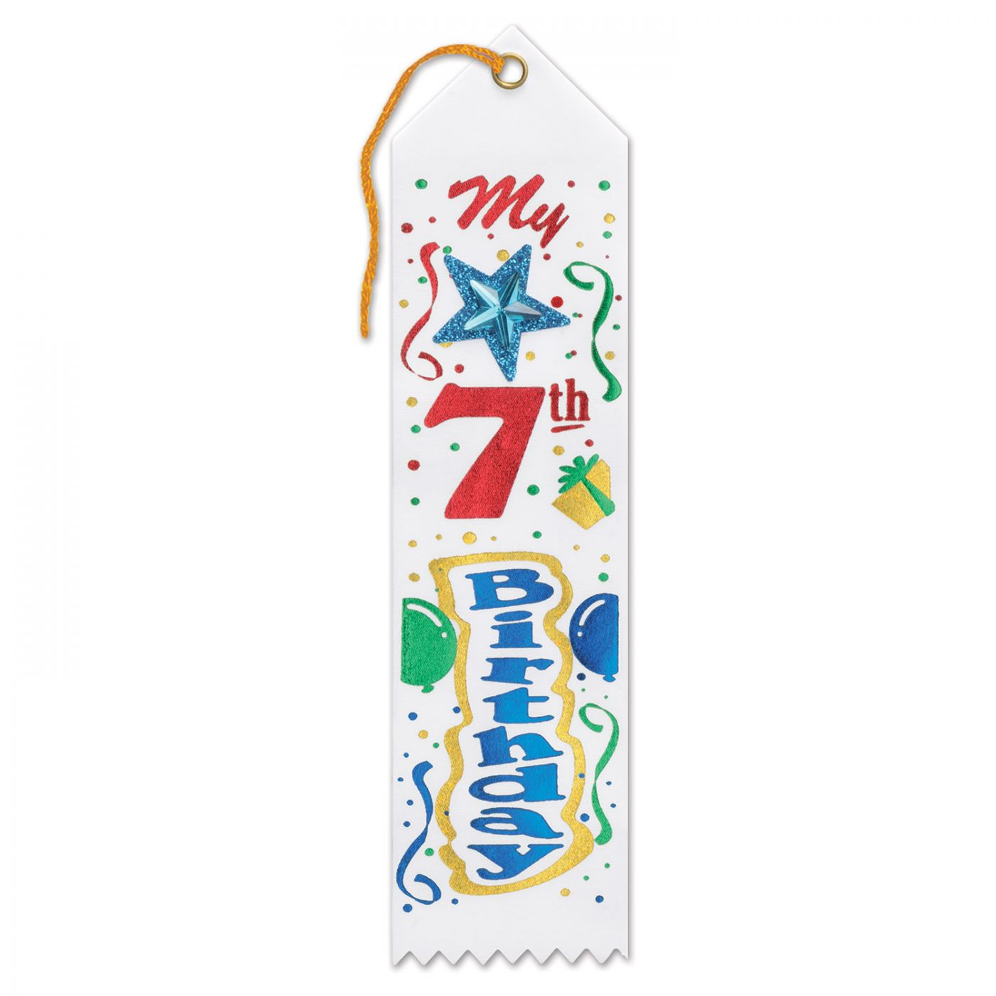 My 7th Birthday Jeweled Ribbon (6) image