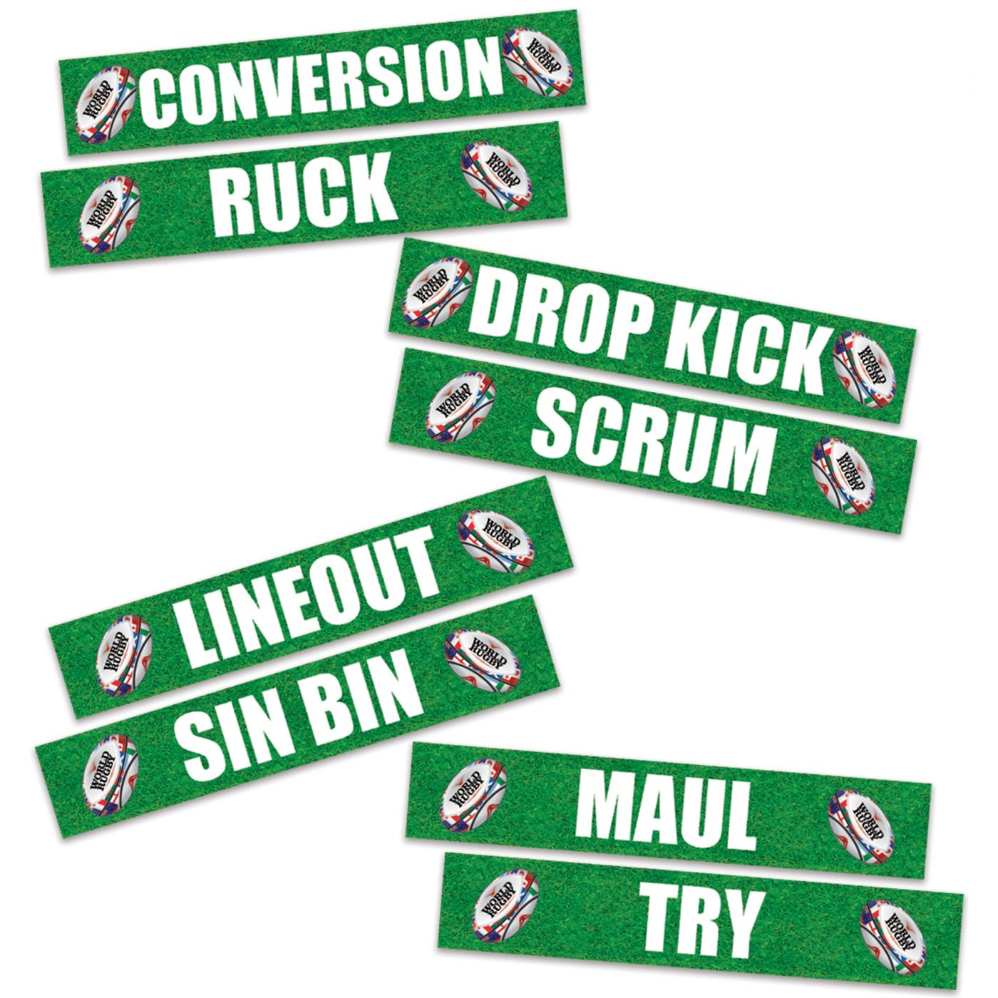 Rugby Phrase Cutouts image