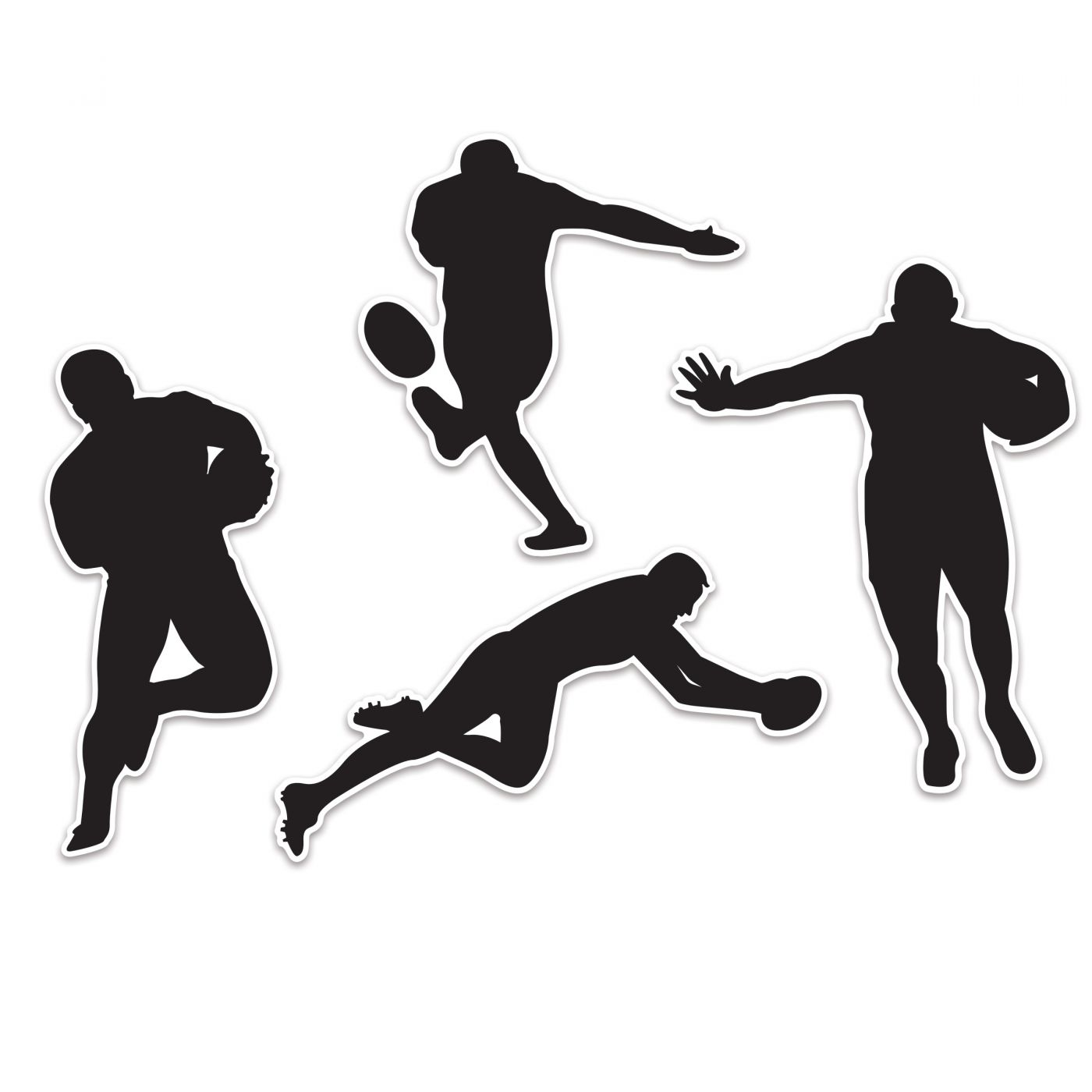 Rugby Player Silhouettes image