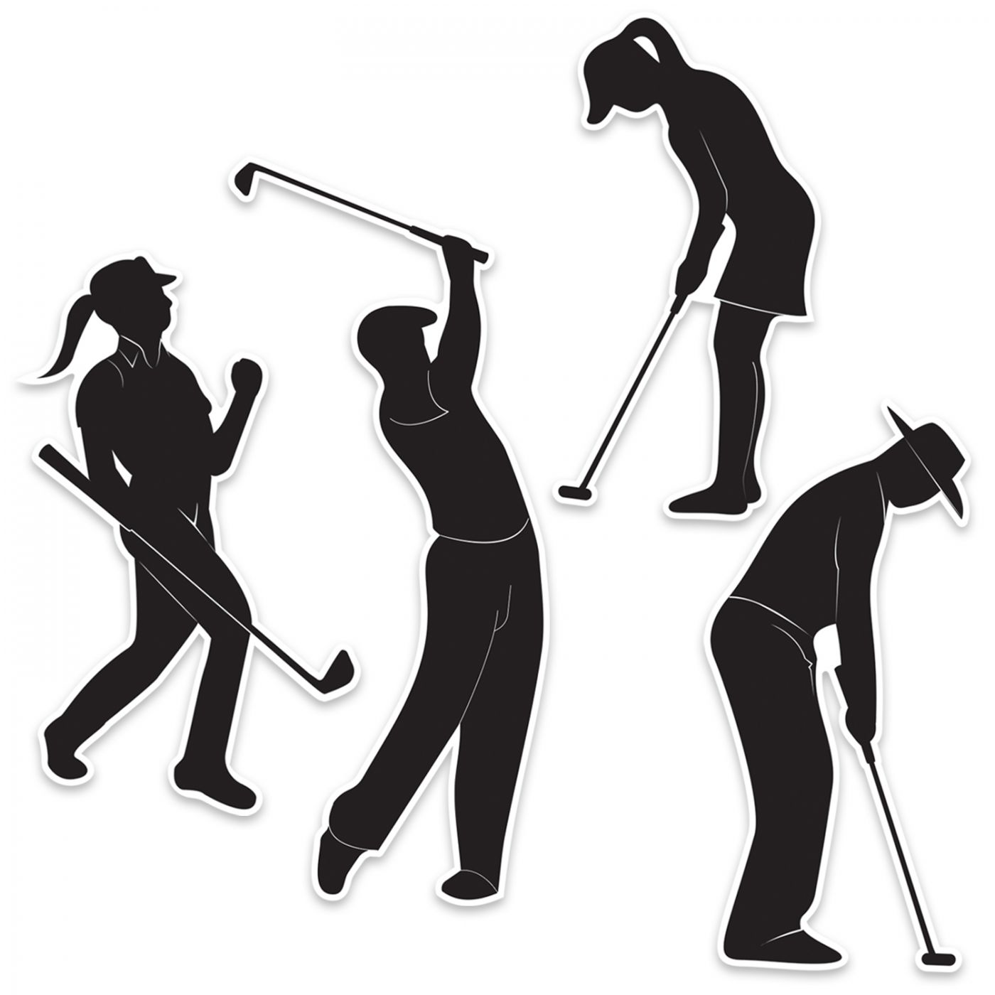 Golf Silhouettes image