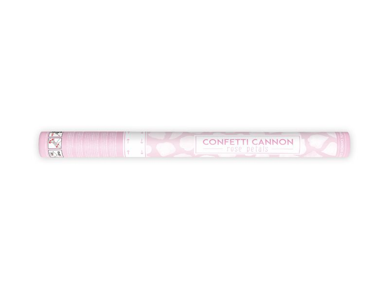 Confetti cannon with rose petals, white, 60cm image