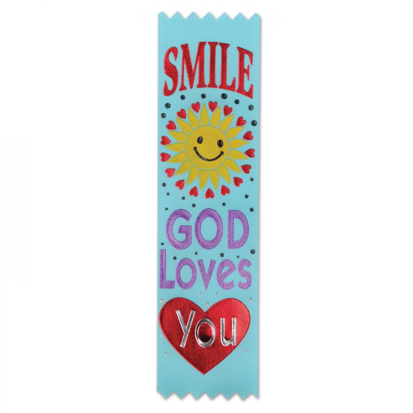 Smile, God Loves You Value Pack Ribbons (3) image
