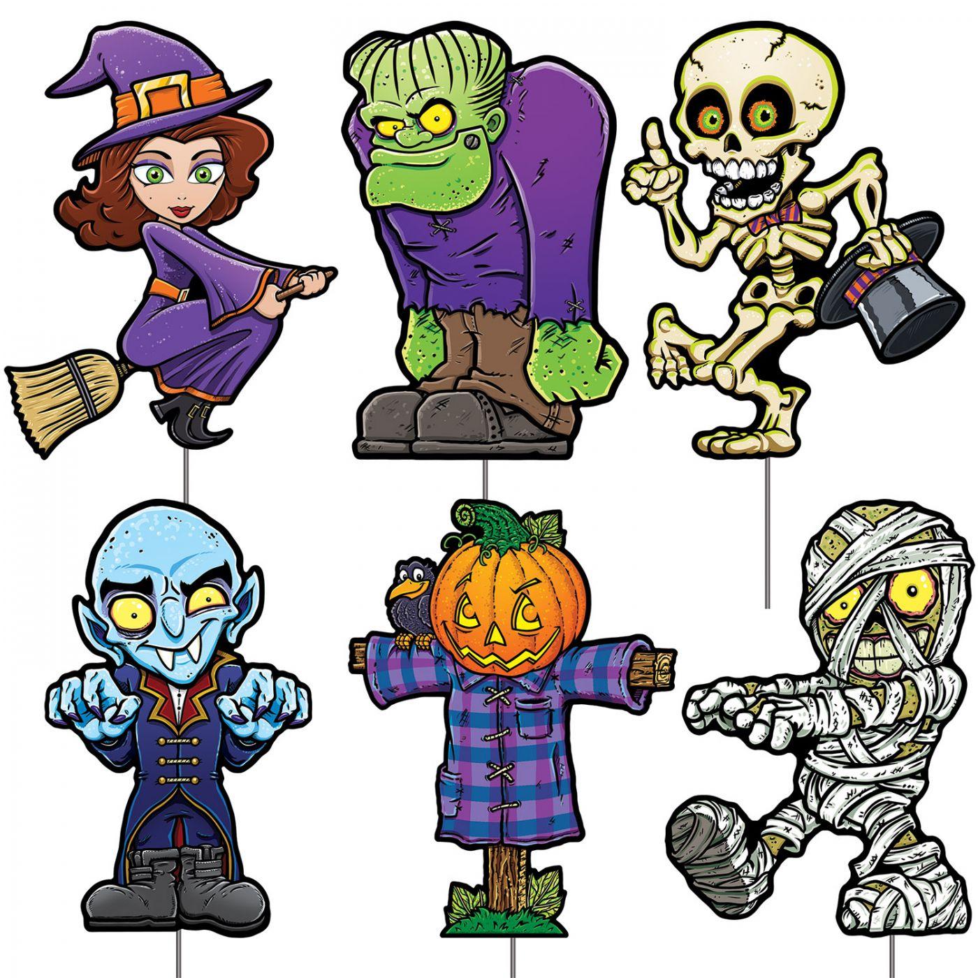Plastic Halloween Yard Signs image