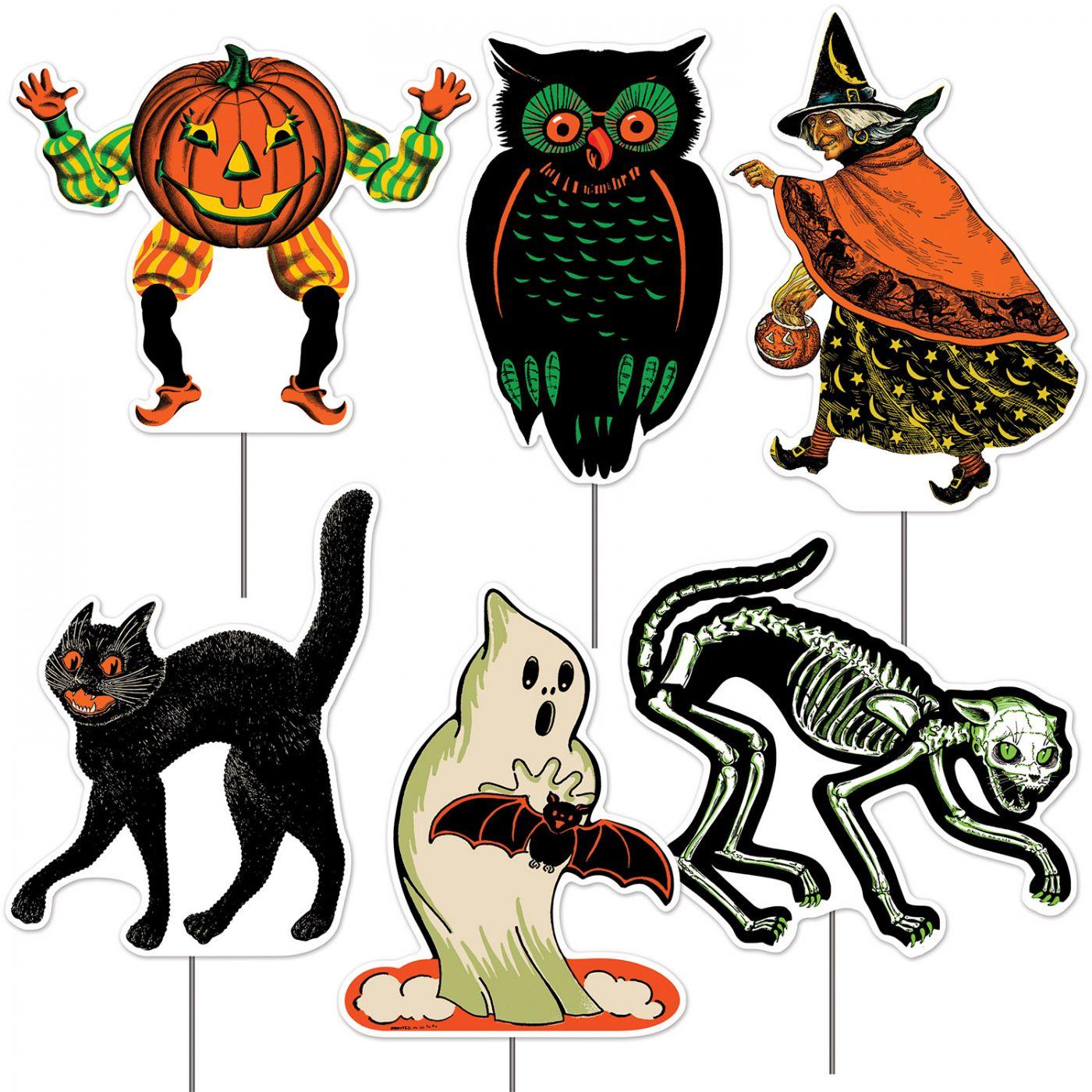Plastic Vintage Halloween Yard Signs image