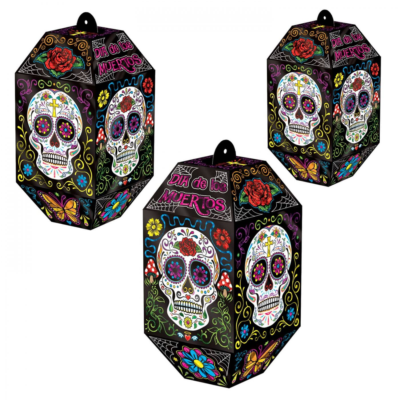 Foil Day Of The Dead Paper Lanterns image