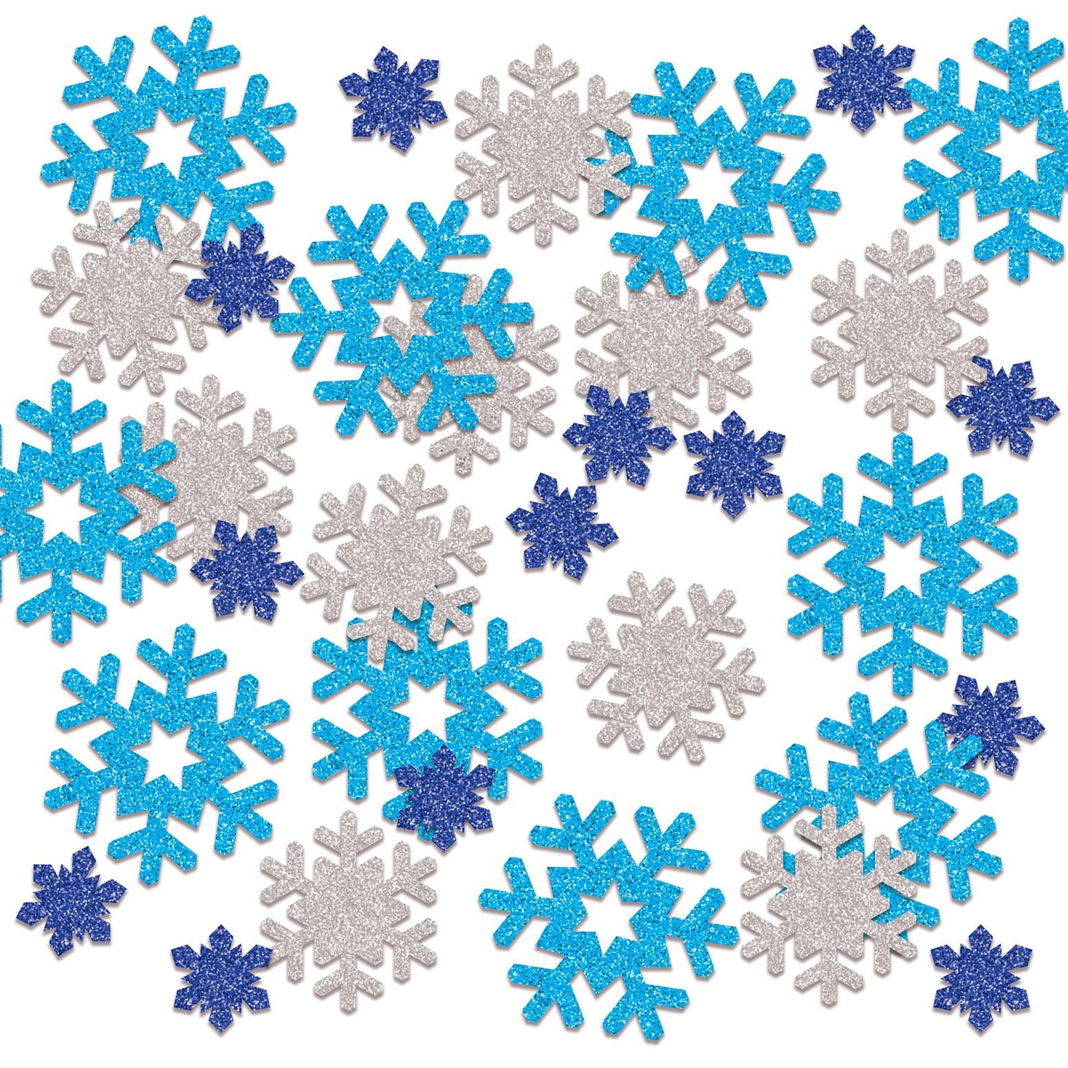 SNOWFLAKE DELUXE SPARKLE CONFETTI (12) image