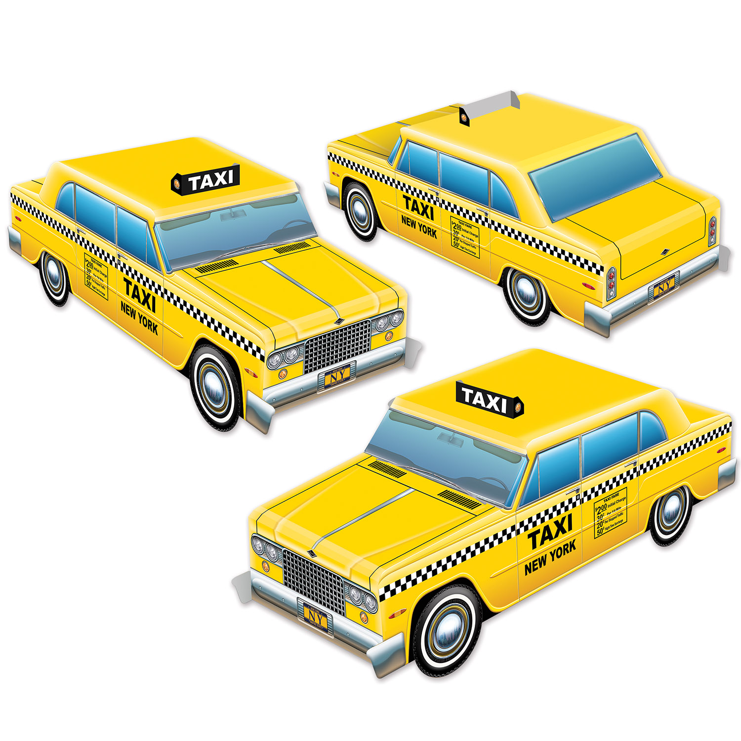 Image of 3-D TAXI CAB CENTERPIECES (12)