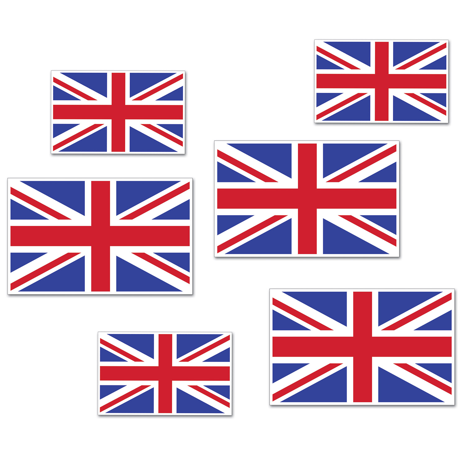Image of BRITISH FLAG CUTOUTS (12)